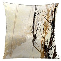 Lama Kasso Pillow #158S, Winter Wonder Land 18″ Square Micro-Suede Accent Pillow