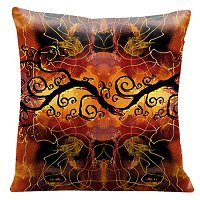 Lama Kasso Pillow #700, Mystical Inspired 18″ Square Micro-Suede Accent Pillow