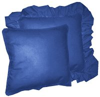 Solid Royal Blue Colored Accent Pillow with Removable Ruffled or Corded Edge (in 16x16 or 18x18)