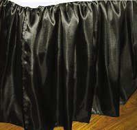 Black Satin Bedskirt (in all sizes including crib and daybeds and many custom skirt drop lengths)