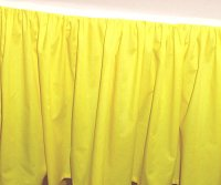 Solid Lemon Yellow Colored Bedskirt (in all sizes from twin to cal-king also in crib size and daybeds with many custom skirt drop lengths)