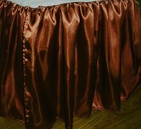 Copper Satin Bedskirt (in all sizes including crib and daybeds and many custom skirt drop lengths)