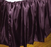 Eggplant Satin Bedskirt (in all sizes including crib and daybeds and many custom skirt drop lengths)