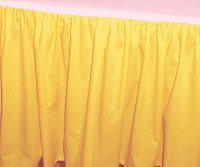 King Size Solid Golden Yellow Colored Bedskirt (Regular Ruffled and 21″ Drop Length)