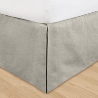 Gray Huys Linen Bed Ruffle in King (with adjustable drop length up to 16 inches)