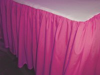 Solid Fuchsia Colored Bedskirt (in all sizes from twin to cal-king also in crib size and daybeds with many custom skirt drop lengths)