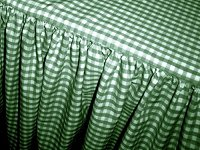 Hunter Green Gingham Check Bedskirt (in all sizes from twin to cal-king including crib and daybeds in many skirt drop lengths)