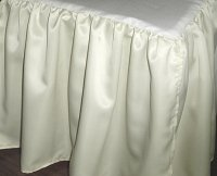 Ivory Satin Bedskirt (in all sizes including crib and daybeds and many custom skirt drop lengths)