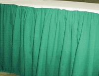 Solid Jade Green Colored Bedskirt (in all sizes from twin to cal-king also in crib size and daybeds with many custom skirt drop lengths)