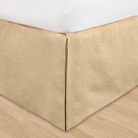 Khaki Huys Linen Bed Ruffle in Queen and Cal King (with adjustable drop length up to 16 inches)