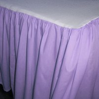 Solid Light Purple Colored Bedskirt (in all sizes from twin to cal-king also in crib size and daybeds with many custom skirt drop lengths)