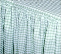 Mint Green Gingham Check Bedskirt (in all sizes from twin to cal-king including crib and daybeds in many skirt drop lengths)