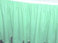 Solid Mint-Seafoam Colored Bedskirt (in all sizes from twin to cal-king also in crib size and daybeds with many custom skirt drop lengths)