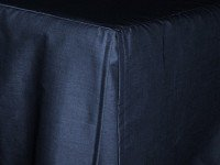Navy Blue Tailored Bedskirt (for cribs and daybeds and twin, twin xl, full, queen, olympic queen, king and cal king sizes with several skirt drop lengths)
