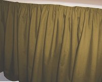 Solid Olive Colored Bedskirt (in all sizes from twin to cal-king also in crib size and daybeds with many custom skirt drop lengths)
