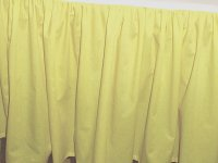 Solid Light Yellow Colored Bedskirt (in all sizes from twin to cal-king also in crib size and daybeds with many custom skirt drop lengths)