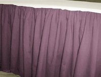 Solid Powder Plum Colored Bedskirt (in all sizes from twin to cal-king also in crib size and daybeds with many custom skirt drop lengths)