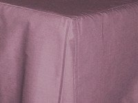 Powder Plum Tailored Bedskirt (for cribs and daybeds and twin, twin xl, full, queen, olympic queen, king and cal king sizes with several skirt drop lengths)