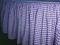 Dark Purple Gingham Check Bedskirt (in all sizes from twin to cal-king including crib and daybeds in many skirt drop lengths)