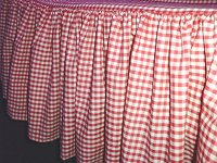Red Gingham Check Bedskirt (in all sizes from twin to cal-king including crib and daybeds in many skirt drop lengths)
