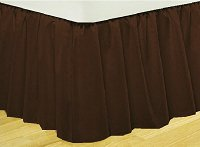Solid Brown Colored Bedskirt (in all sizes from twin to cal-king also in crib size and daybeds with many custom skirt drop lengths)