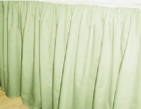 Solid Light Green Colored Bedskirt (in all sizes from twin to cal-king also in crib size and daybeds with many custom skirt drop lengths)