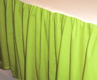 Solid Lime Colored Bedskirt (in all sizes from twin to cal-king also in crib size and daybeds with many custom skirt drop lengths)