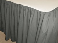 Solid Medium Gray Colored Bedskirt (in all sizes from twin to cal-king also in crib size and daybeds with many custom skirt drop lengths)