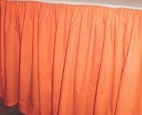 Solid Orange Colored Bedskirt (in all sizes from twin to cal-king also in crib size and daybeds with many custom skirt drop lengths)