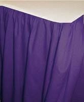 Solid Purple Colored Bedskirt (in all sizes from twin to cal-king also in crib size and daybeds with many custom skirt drop lengths)
