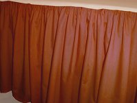 Solid Rust Colored Bedskirt (in all sizes from twin to cal-king also in crib size and daybeds with many custom skirt drop lengths)