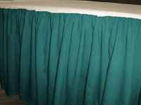 Queen Size Solid Teal Colored Bedskirt (Regular Ruffled, 15″ Drop Length includes 2 Matching Queen Pillow Shams)