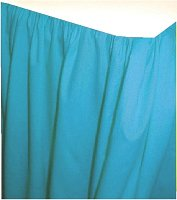 Solid Turquoise Colored Bedskirt (in all sizes from twin to cal-king also in crib size and daybeds with many custom skirt drop lengths)