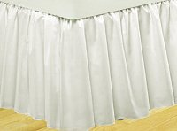 Solid Bright White Colored Bedskirt (in all sizes from twin to cal-king also in crib size and daybeds with many custom skirt drop lengths)