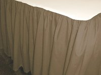 Solid Taupe Colored Bedskirt (in all sizes from twin to cal-king also in crib size and daybeds with many custom skirt drop lengths)