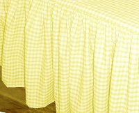 Yellow Gingham Check Bedskirt (in all sizes from twin to cal-king including crib and daybeds in many skirt drop lengths)