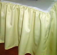 Yellow Satin Bedskirt (in all sizes including crib and daybeds and many custom skirt drop lengths)