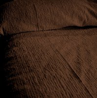 Solid Brown Ribbed Cotton Chenille Bedspread with Vintage Look (in all sizes with choice of 2 drop lengths)