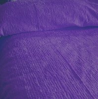 Solid Dark Purple Ribbed Cotton Chenille Bedspread with Vintage Look (in all sizes with choice of 2 drop lengths)