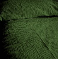 Solid Hunter Green Ribbed Cotton Chenille Bedspread with Vintage Look (in all sizes with choice of 2 drop lengths)
