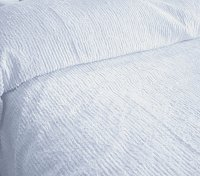 Solid Light Blue Ribbed Cotton Chenille Bedspread with Vintage Look (in all sizes with choice of 2 drop lengths)