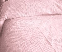 Solid Light Pink Ribbed Cotton Chenille Bedspread with Vintage Look (in all sizes with choice of 2 drop lengths)
