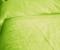 Solid Lime Green Ribbed Cotton Chenille Bedspread with Vintage Look (in all sizes with choice of 2 drop lengths)