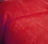 Solid Red Ribbed Cotton Chenille Bedspread with Vintage Look (in all sizes with choice of 2 drop lengths)