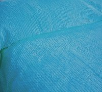 Solid Turquoise Ribbed Cotton Chenille Bedspread with Vintage Look (in all sizes with choice of 2 drop lengths)