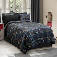Urban Kid - Black Multi Color Twin, Full, Queen Comforter Set