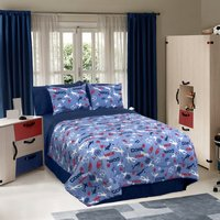 Soccer Locker - Blue Twin, Full Comforter Set