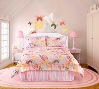Butterflies Are Free-4-PC Twin Comforter Set (Pink-White)