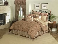 Castille, 4-PC California King Comforter Set (Garnet)
