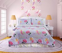Fairy Light, 4-PC Full Comforter Set (Lavendar Multi)